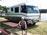 Diana Worner with her  motor  home
