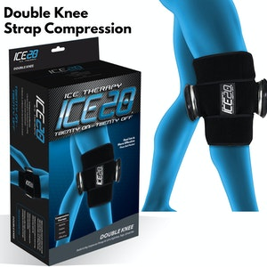Boutique Medical ICE 20 Double Knee Strap Compression Therapy Wrap Cold Pain Relief