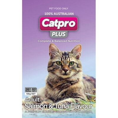 Catpro Plus Adult High Protein Salmon and Tuna Dry Cat Food 10kg