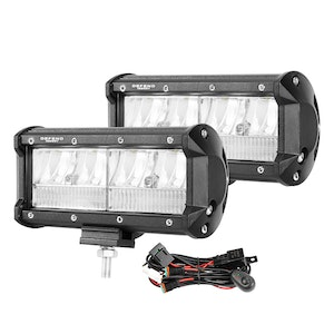 DEFEND INDUST 7inch CREE LED Work Light Bar Work Driving Lamp Combo OffRoad 4WD