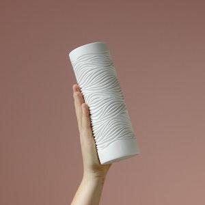 Thick Fur Pattern Vase, Medium