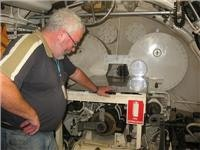 Geoff on the  enthralling one hour submarine tour at Freo