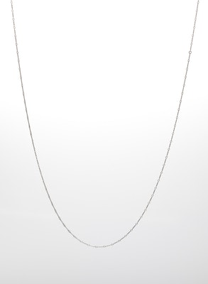 I Dream of Silver Bar Link Chain Sterling-Silver Necklace