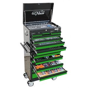 SP50164G Tool Kit 506 Piece Metric/SAE Custom Series BLACK/GREEN SP50164G