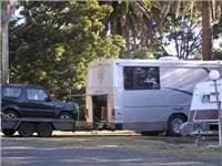 Big motorhome and  runabout