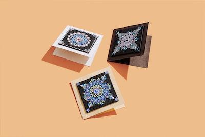 Divine Dotting Hand Painted Display Cards- Original Dot Art
