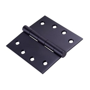Dorma 2 Pack 100x100mm Broad Butt Hinges Finished in Black