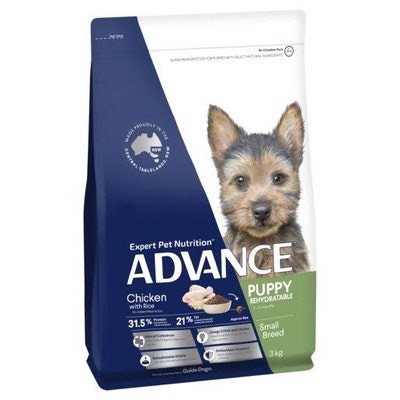 Advance Dry Dog Food Puppy Small Breed Rehydratable Chicken 3kg