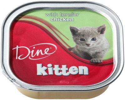 Dine Wet Kitten Food Tender Chicken 85g x 14