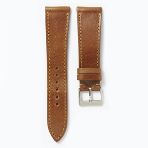 Time+Tide Watches  Tan + Orange Stitch Vintage Leather Strap