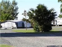 Real space on camp sites Miranda Holiday Park