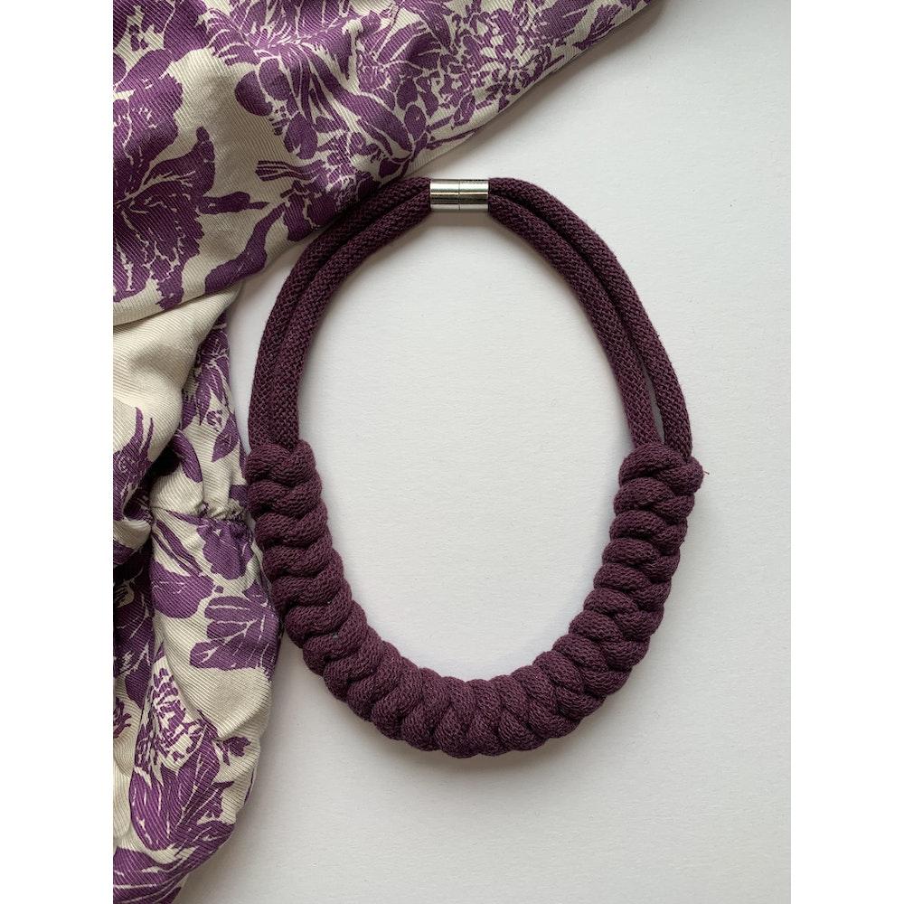 Form Norfolk Snake Knot Necklace In Plum Purple