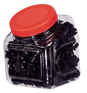 End Caps Candy Box 250Pcs Carbon
