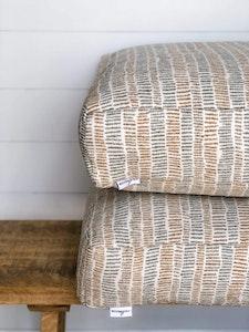 Floor Cushion Cover - Sunkissed Stripe