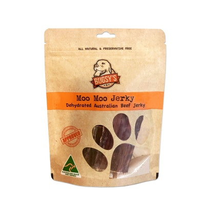 Bugsy's Pet Supplies HEALTHY SNACKS | Dehydrated Australian Beef Jerky Strips