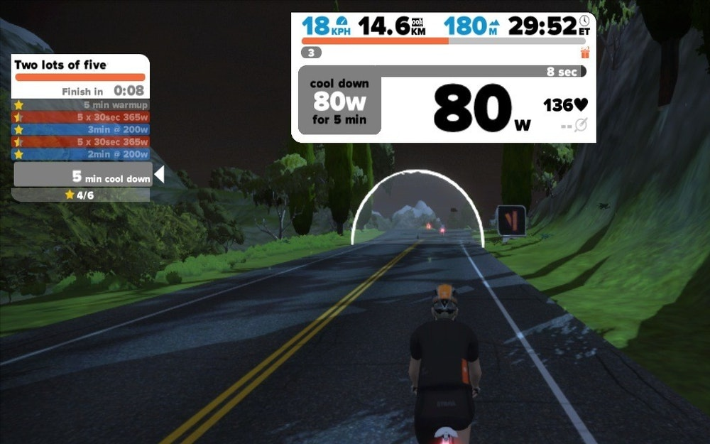 Zwift workout 3
