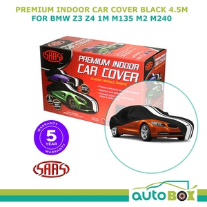 BLACK SAAS SHOW CAR COVER INDOOR MEDIUM 4.5m  suit BMW Z3 Z4 1M M135 M2 M240
