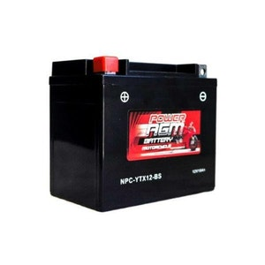 Power AGM 12V 10AH 240CCAs Motorcycle Battery