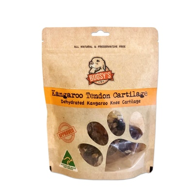 Bugsy's Pet Supplies HEALTHY SNACKS | Dehydrated Kangaroo Tendon Knee Cartilage