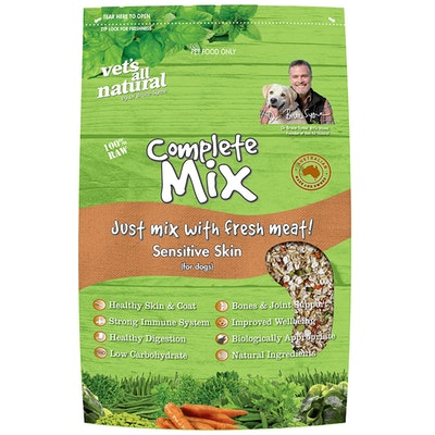 Vets All Natural Complete Mix Sensitive Skin Dog Food - 3 Sizes