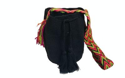 Continente Dorado Asema Crossbody Bag- Orange & Black