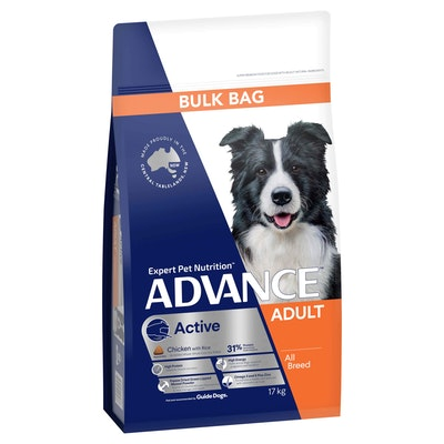 Advance Active Chicken with Rice Dry Dog Food 17kg