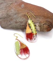 Flowering Gum & Banksia Leaf Earrings
