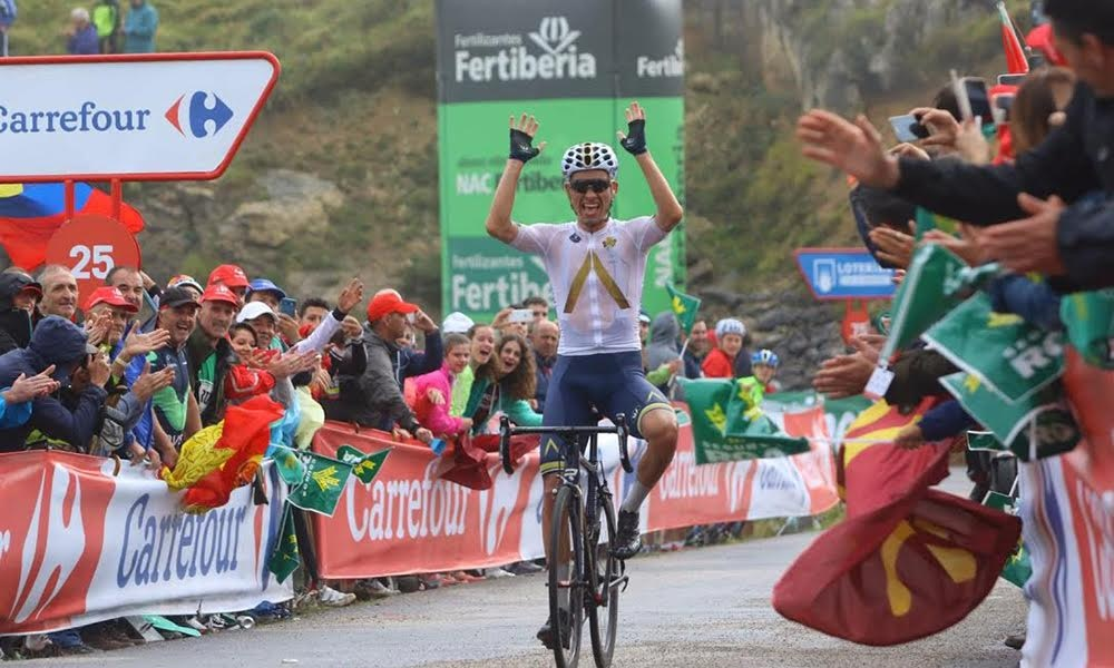 Denifl Takes First Grand Tour Stage Win of Career at Aqua Blue Sport's Grand Tour Debut