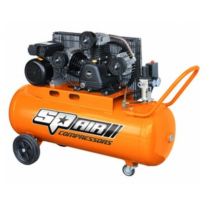 SP1800 Air Compressor 3.0hp 100lt Triple Cast Iron Portable Pneumatic SP1800