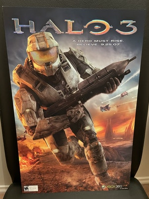 Halo 3 Embossed Holographic Lithograph