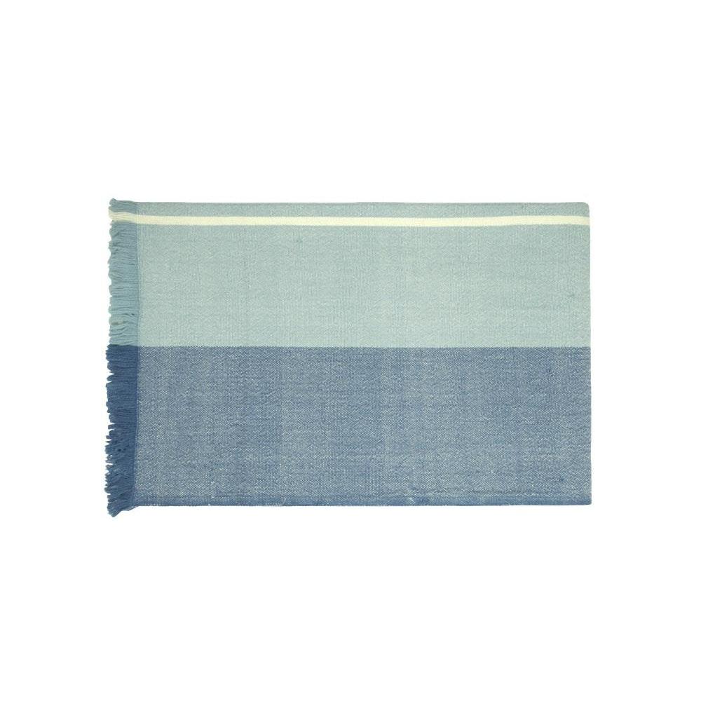 Birdie Fortescue Carinthia Wool Throw - Blue/blue