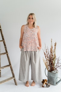 Coastal Pant - Cotton in Nickel