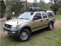 GoSee Canning Stock Route vehicle and tow tug the 2006 Holden diesel Rodeo