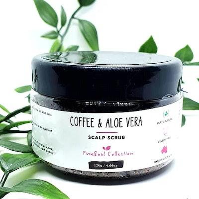 PureSoul Collection Coffee & Aloe Vera Scalp Scrub