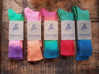 local merino wool hand-dyed Kiamma socks