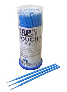 Touch Up Tips BLUE 2.0mm Paint Micro Brush - 100 Per Dispenser