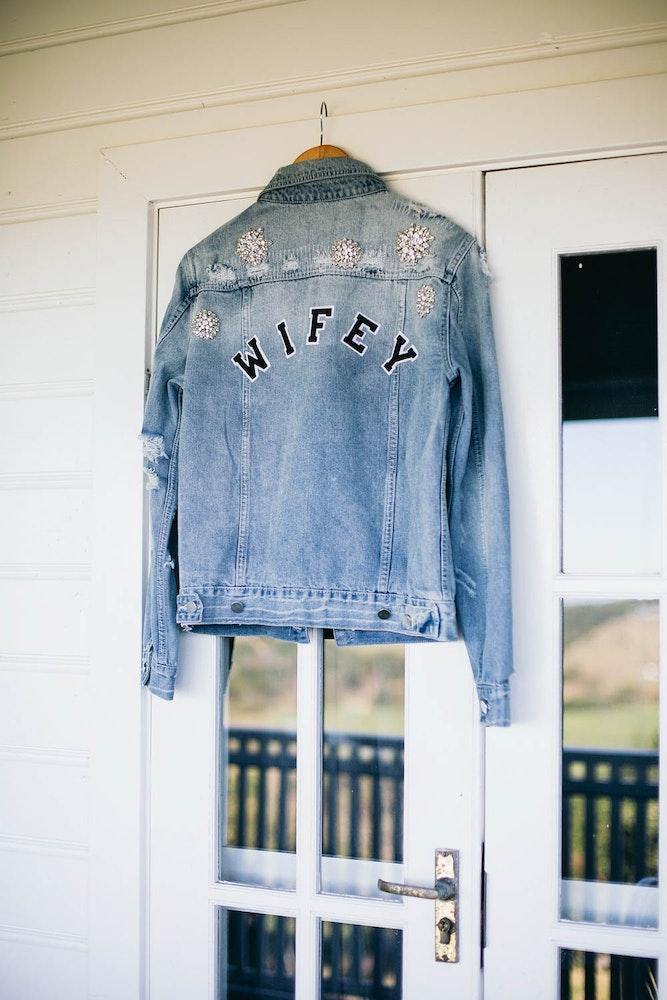 Wifey Denim Jacket One Day Bridal LENZO