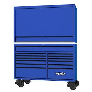 "Roller Cabinet Power Top Hutch 59"" USA BLUE/BLACK SP44740BL"