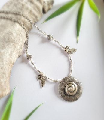 Uniqu-Lea Yours Long Boho Hill Tribe Silver Necklace