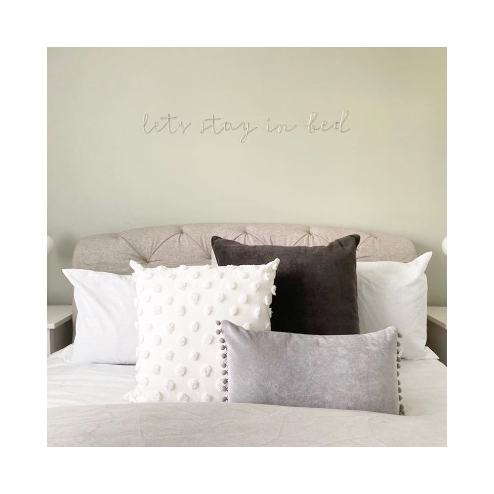 """Wired Mama """"lets Stay In Bed"""" Wall Mounted Three Dimensional Typography"""