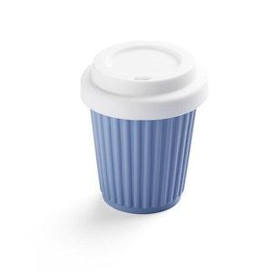 Onya BYO Coffee Cup Small 236ml (8oz) Grey/Blue