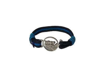 Breeze Black & Blue Rope Bracelet