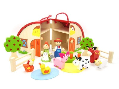 Kaper Kidz FARM PLAYSET WITH CARRY HOUSE