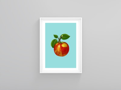 Vintage style apple poster