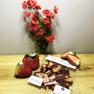 Fruity Garnish Co Dehydrated Strawberries