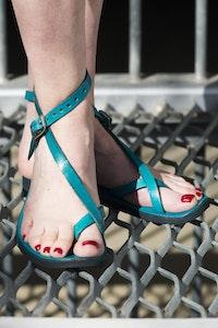 Venus - Adjustable Leather Sandal, choice of Size & Color, Pointed or Round Toe Shape, Strap Sandal, Ankle Strap, Minimalist Women's Sandal