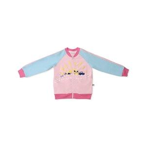 OETEO Australia Road Trip Zipper Jacket (Pink)