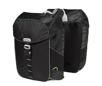 Basil Miles Double Bag 34L Black Lime