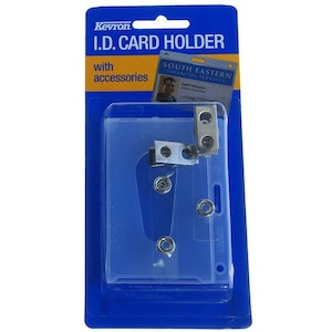 Kevron clear ID holder for Proximity Access Cards, Driver's Licence, Security Licence and Fuel Card with 2 clips