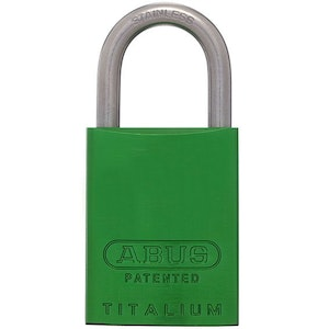 ABUS Brass Padlock 83IB/40 with 25mm SS Shackle KD - Green